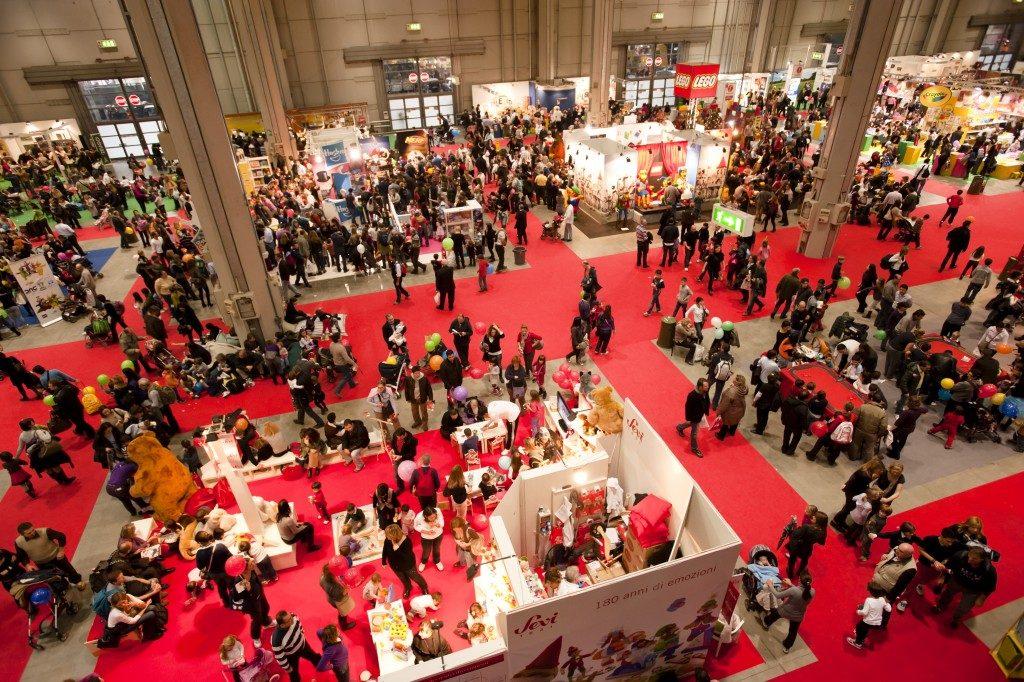 Aerial view of an international fair