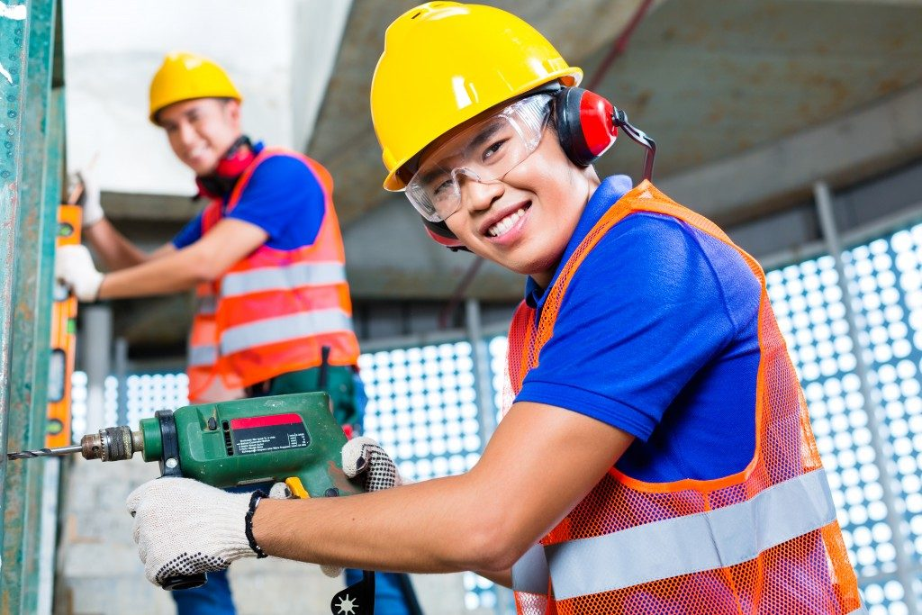 workers on a safe working environment