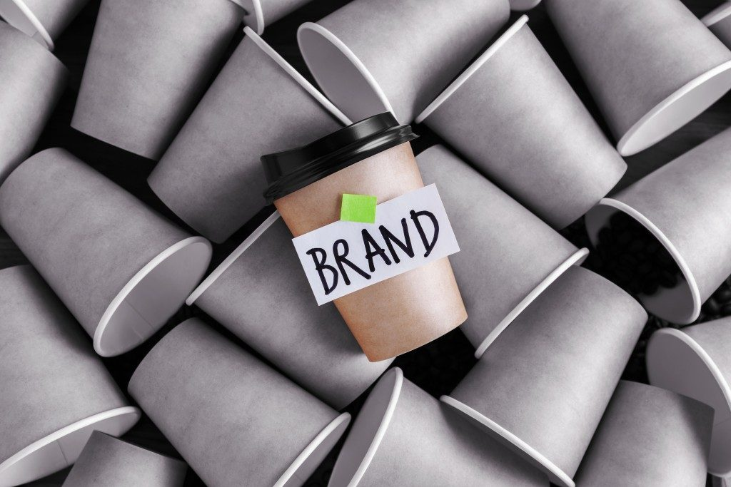 Brand identity coffee cup concept