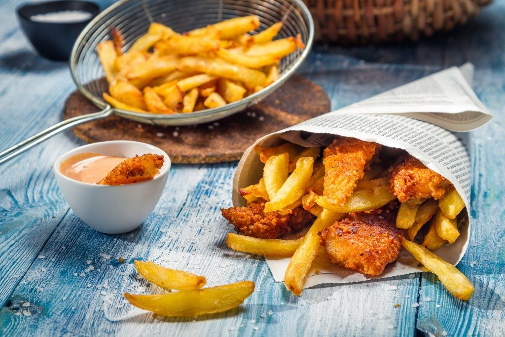Fish chips and fries