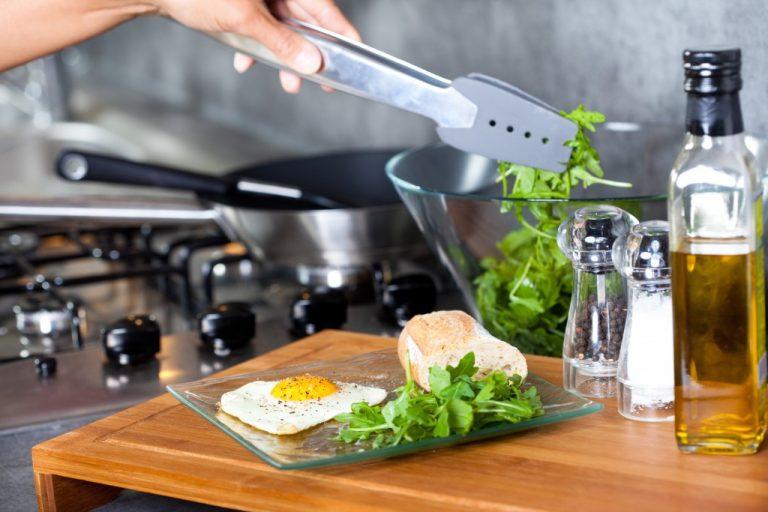 Chef making a salad