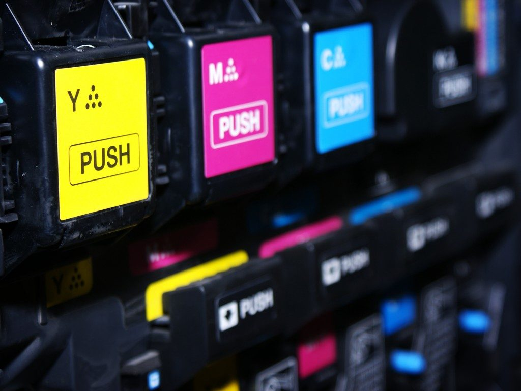 Inkjet cartridges up close
