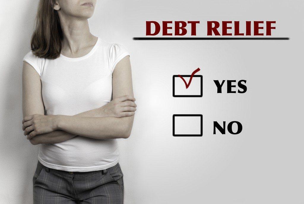 debt-free checklist concept
