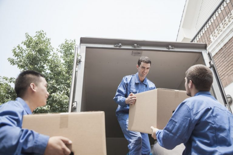 men lifting boxes
