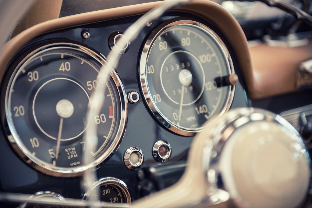 Vintage car's dashboard