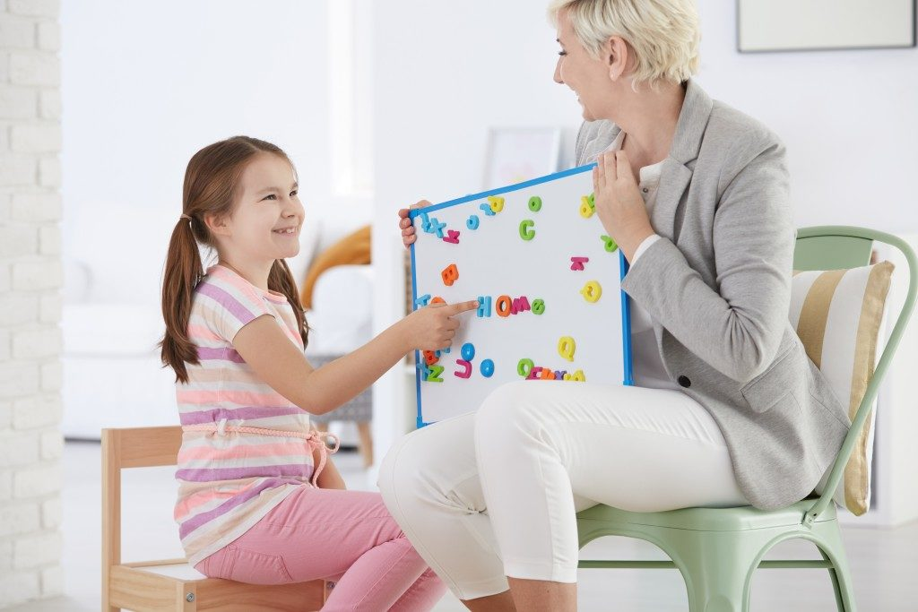 a child with child care specialist