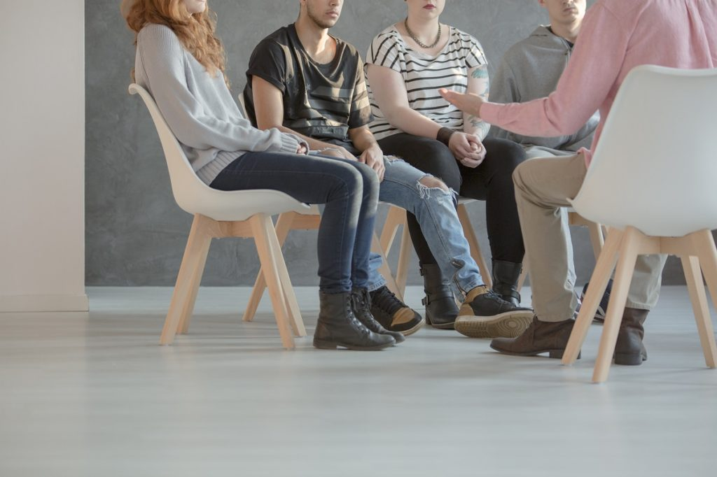people attending a group therapy