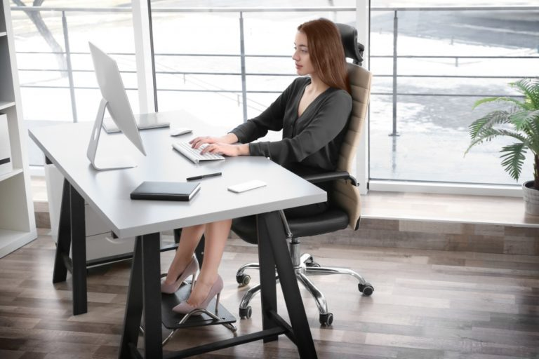woman with good back support chair