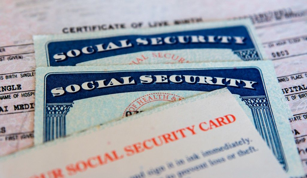 social security papers and card