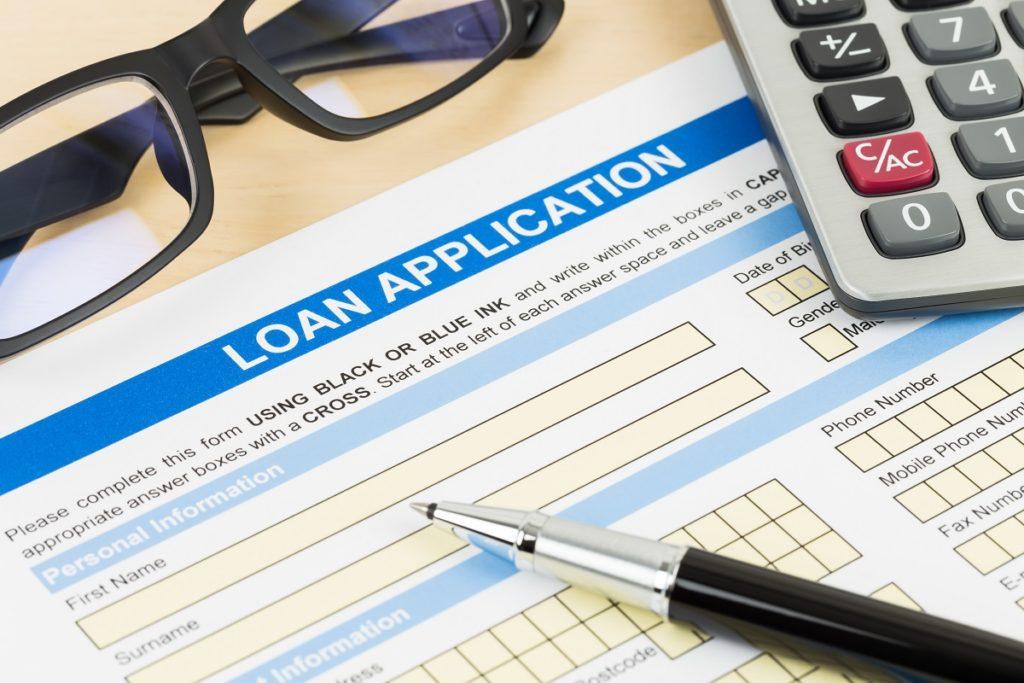 blank loan application form