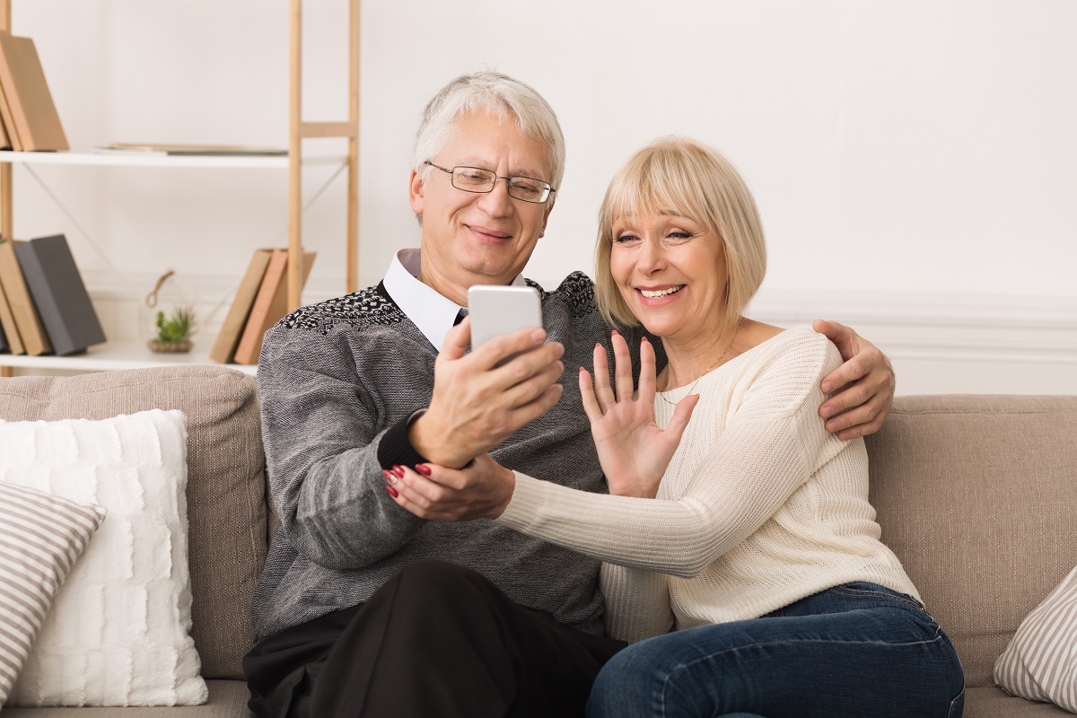 grandparents video chatting